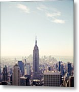 New York City - Empire State Building Panorama Metal Print