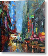 New York City 42nd Street Painting Metal Print