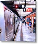 New York City Broadway Subway Station Metal Print