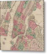 New York City, Brooklyn, Jersey City, Hoboken Metal Print