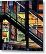 New York City Elevated Subway Stairs Metal Print