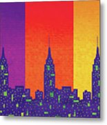 New York City Empire State Sunset Metal Print