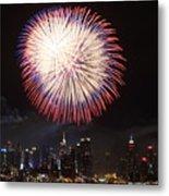New York City Fireworks Metal Print