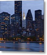 New York City From Across The Water Metal Print by Bryan Mullennix