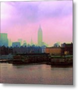 New York City From Hoboken Metal Print