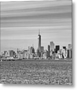 New York City From The Staten Island Ferry Metal Print