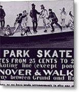 New York City, Illustration Advertising Metal Print