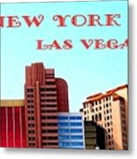 New York City- Las Vegas Metal Print