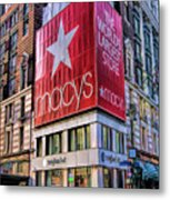 New York City Macy's Herald Square Store Metal Print