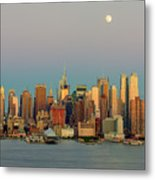 New York City Moonrise I Metal Print