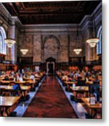 New York City Public Library Rose Reading Room Metal Print
