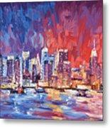 New York City Skyline 02 Metal Print