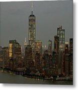 New York City Skyline Aerial - Lower Manhattan Metal Print