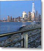 New York City Skyline From Liberty State Park In Jersey City New Jersey #4 Metal Print