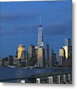 New York City Skyline From Liberty State Park In Jersey City New Jersey Metal Print