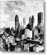New York City Skyline Sketch Metal Print