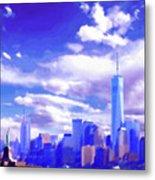New York City Skyline With Freedom Tower Metal Print