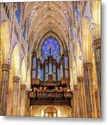New York City St Patrick's Cathedral Organ Metal Print