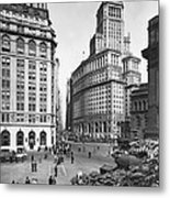 New York City Street Scene Metal Print