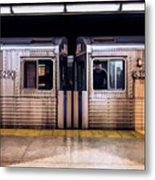 New York City Subway Cars Metal Print