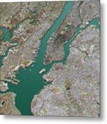 New York City Topographic Map 3d Landscape View Natural Color