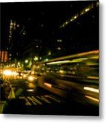 New York City Traffic Metal Print