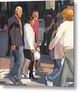 New York Crosswalk Metal Print