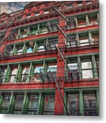 New York Fire Escapes Metal Print