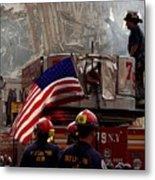 New York Firefighters And Salt Lake Metal Print