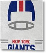 New York Giants Vintage Art Metal Print