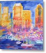 New York Great City Silhouettes.2007 Metal Print