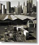 Old New York Harbor Skyline Metal Print