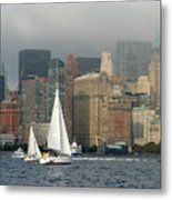 New York Harbor Metal Print
