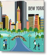 New York Horizontal Skyline - Central Park Metal Print