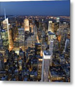 New York Lights Metal Print