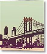 New York Manhattan Bridge Metal Print