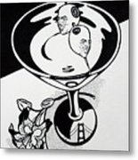 New York Martini Metal Print