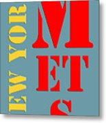 New York Mets Baseball New Typography Metal Print