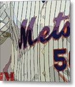 New York Mets Baseball Team And New Typography Metal Print