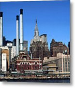 New York Mid Manhattan Skyline Metal Print