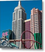 New York New York Hotel Metal Print