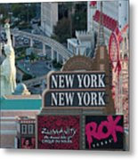 New York New York Strip Metal Print by Andy Smy