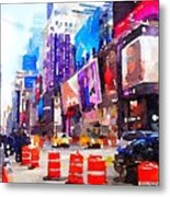 New York Pulse Metal Print