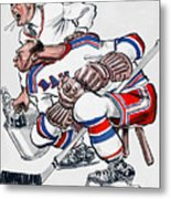 New York Rangers 1960 Program Metal Print