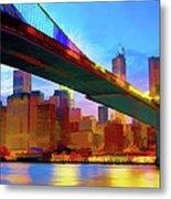 New York Skyline 11 Metal Print
