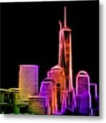 New York Skyline Metal Print by Aaron Berg