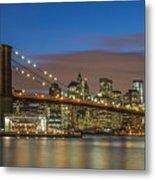 New York Skyline - Brooklyn Bridge - 4 Metal Print