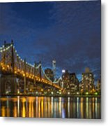 New York Skyline - Queensboro Bridge - 2 Metal Print