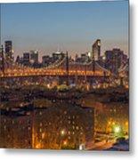 New York Skyline - Queensboro Bridge Metal Print