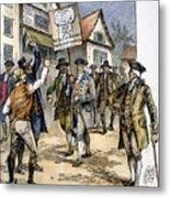 New York: Stamp Act , 1765 Metal Print